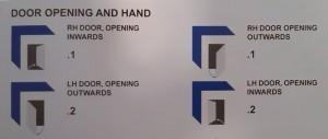 door opening and hand
