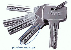 a punched key by Viro