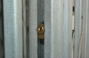 A lock for retractable gates