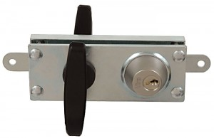 Viro 8217 armoured lock, with 2 galvanised steel protection plates with a total thickness of 5 mm.