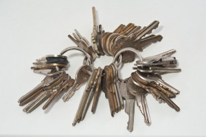 A shop usually has many locks, and if they all are managed independently the bunch of keys grows quickly... (photo by flickr/pennuja)