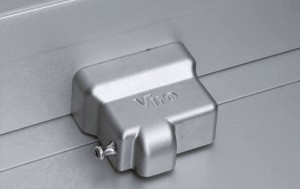 A fastening unit, such as the Viro New Condor,  for shutters has a thick armour to protect the cylinder and makes it especially difficult to insert burglary tools.