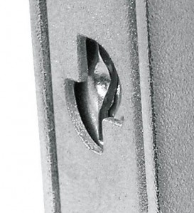The armour allows a drill-resistant plate to be inserted to protect the lock.