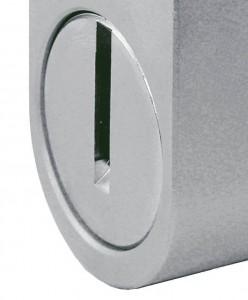 Rotary plate on a Viro Monolith padlock.