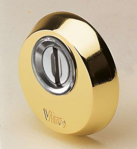 The security escutcheon by Viro has a cone shape which make it impossible to grip with burglary tools.