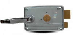 A Viro lock with galvanized body.