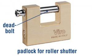 A Viro padlock for roller shutter