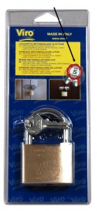 The Viro padlocks made in Italy are guaranteed for 5 years from date of manufacture (marked on the key).