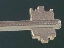 The profile of a double bit key is easily copied.