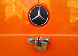 Standard locks on vans are so unreliable that many people create more secure solutions in a craftsman-like manner.