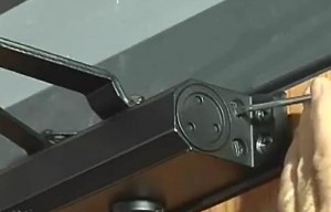 Viro door closers have 2 adjustment screws: one for the closing speed and one for the final closing force.