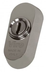 The Viro universal escutcheon can be fitted on practically all locks with European cylinders, even if they do not have DIN holes.