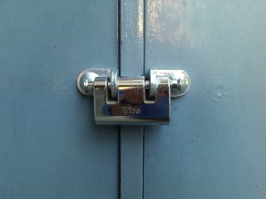 A padlock with 2 dead-bolts is extremely useful on double doors, as it can be left attached to one of the two doors.