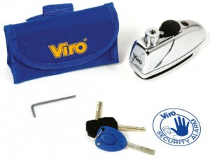 The Viro Sonar alarm disc lock.