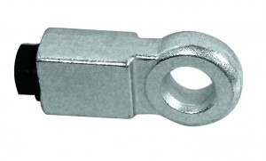 An eyelet for shutters has a thickness designed so as not to leave exposed the bolt of the padlock.