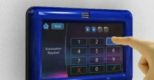 "Example of entering a secrete code on a ""touch"" keypad."