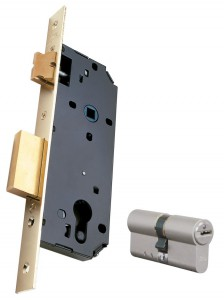 Example of mortise lock with Viro cylinder.