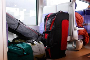 During train journeys you often cannot keep an eye on your suitcase, and not even on the flow of people, who get on and off at stations.