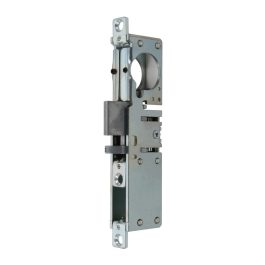 Mortise lock with self-locking reversible latch prepared for round cylinder  item 8516